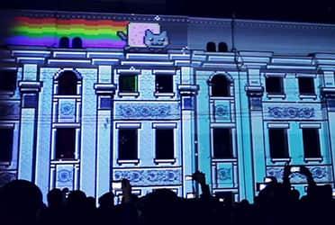Проекция на здании