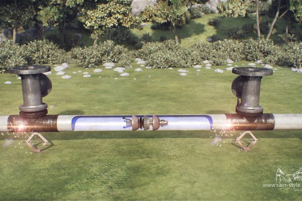 Процесс ремонта газопровода