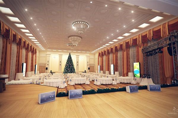 Вид со сцены в зал