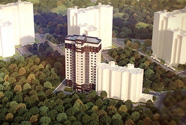 3d визуализация жилого дома компании Новострой