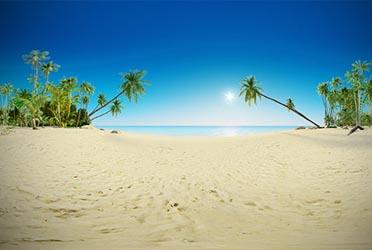 Панорама пляжа для проекта Naughty Shores