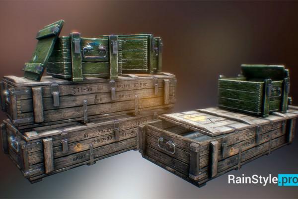 Армейские ящики 3d модель