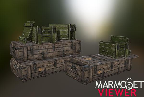 PBR модель «Ящики»
