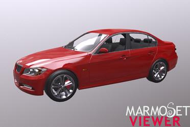 PBR-модель BMW 330