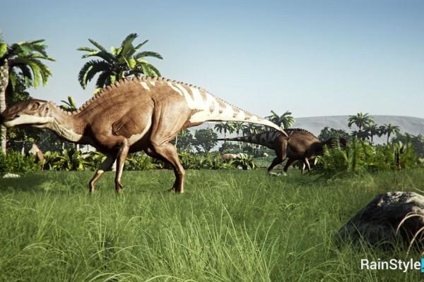 Анимация травоядных динозавров